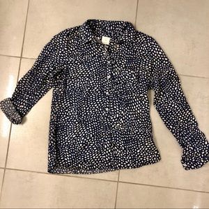 Gap Pattered Popover Shirt - XS